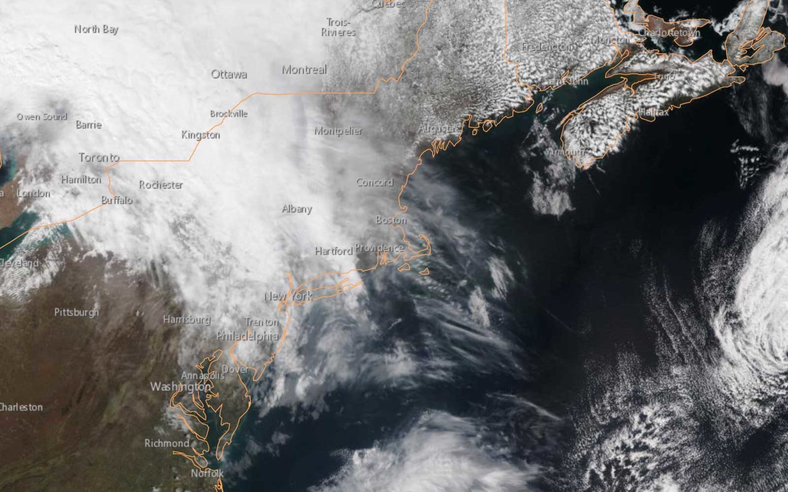 NOAA Satellite Northeast Weather