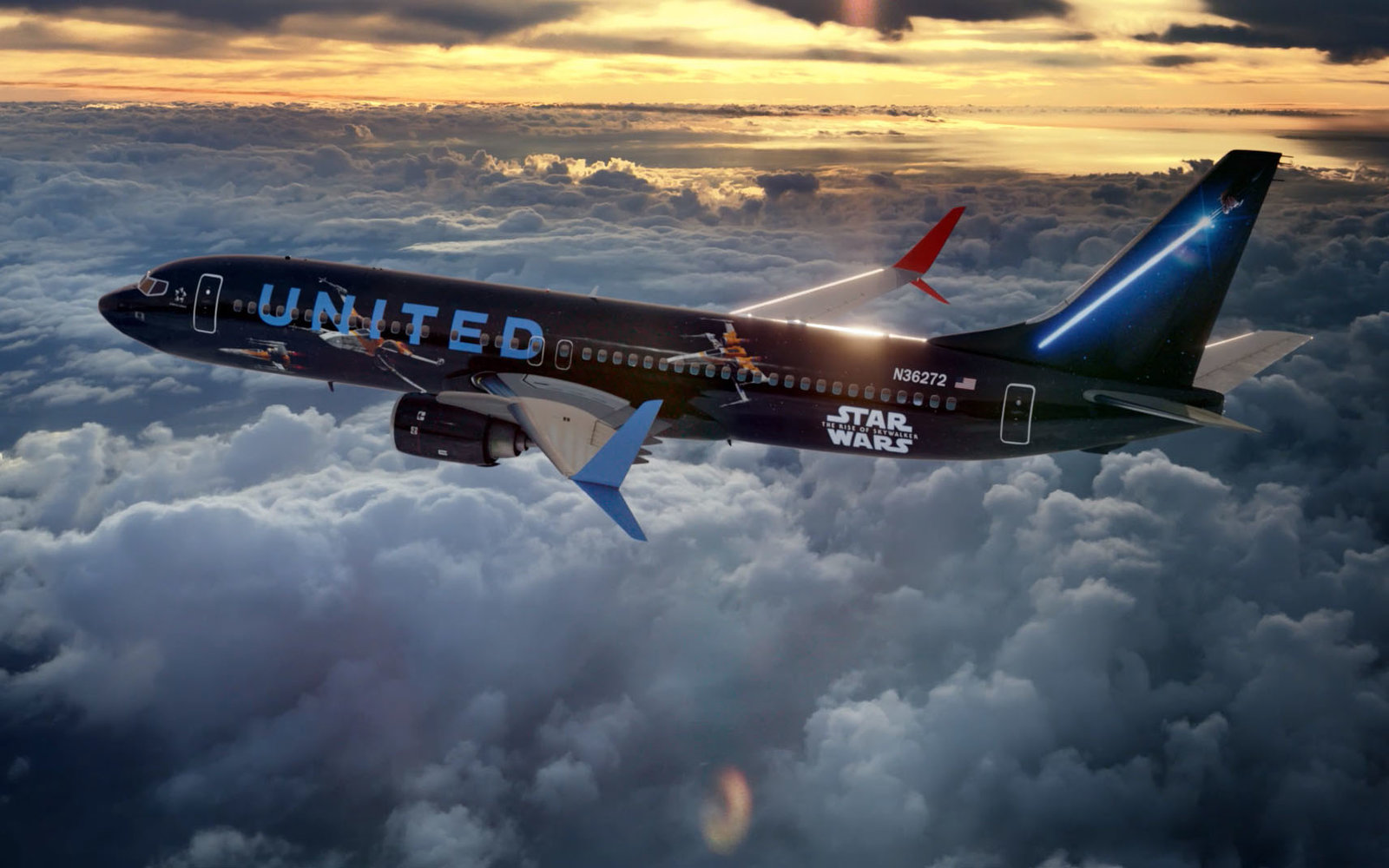United Airlines' Star Wars-themed Plane