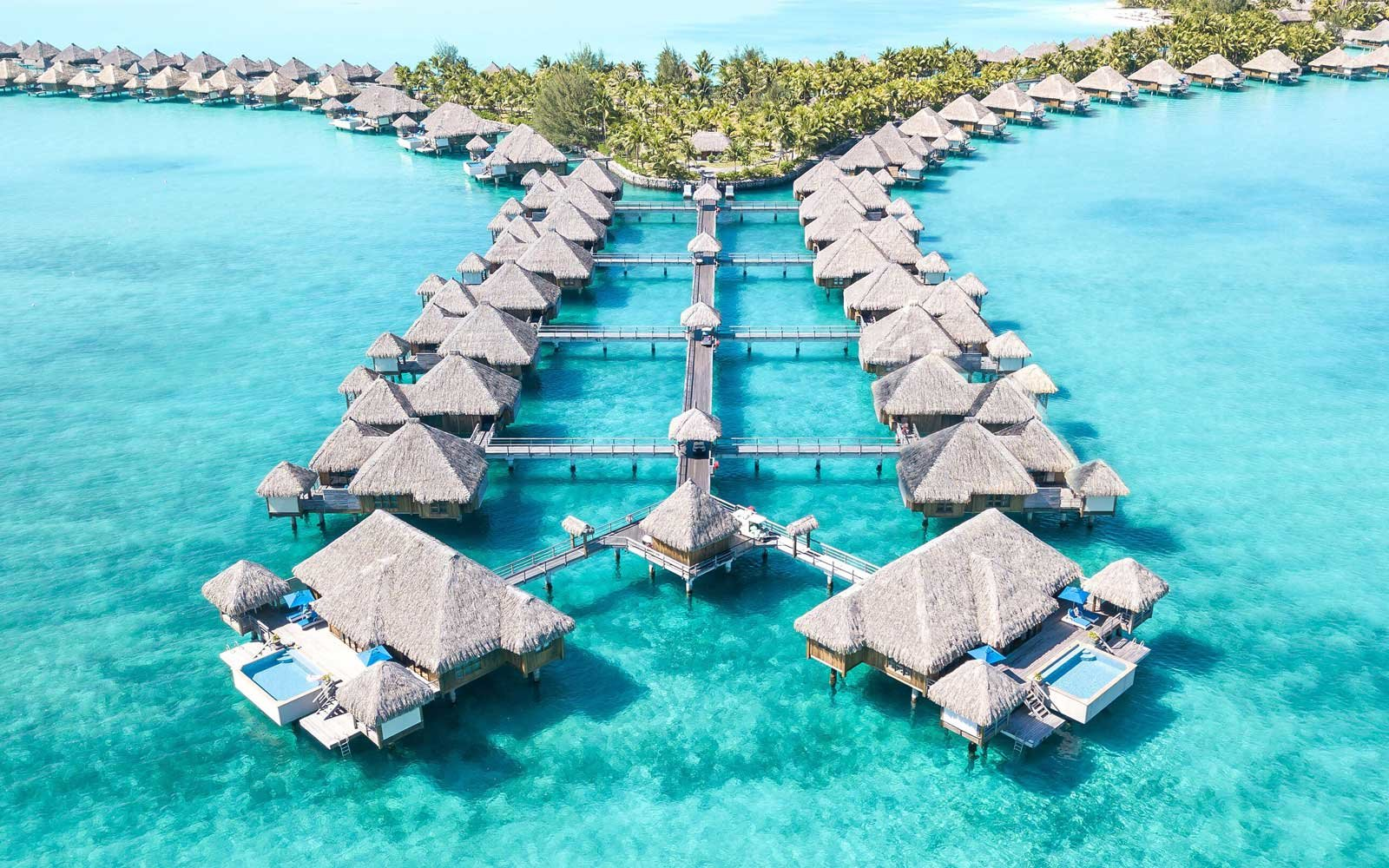These Gorgeous Over Water Villas In Bora Bora Come With
