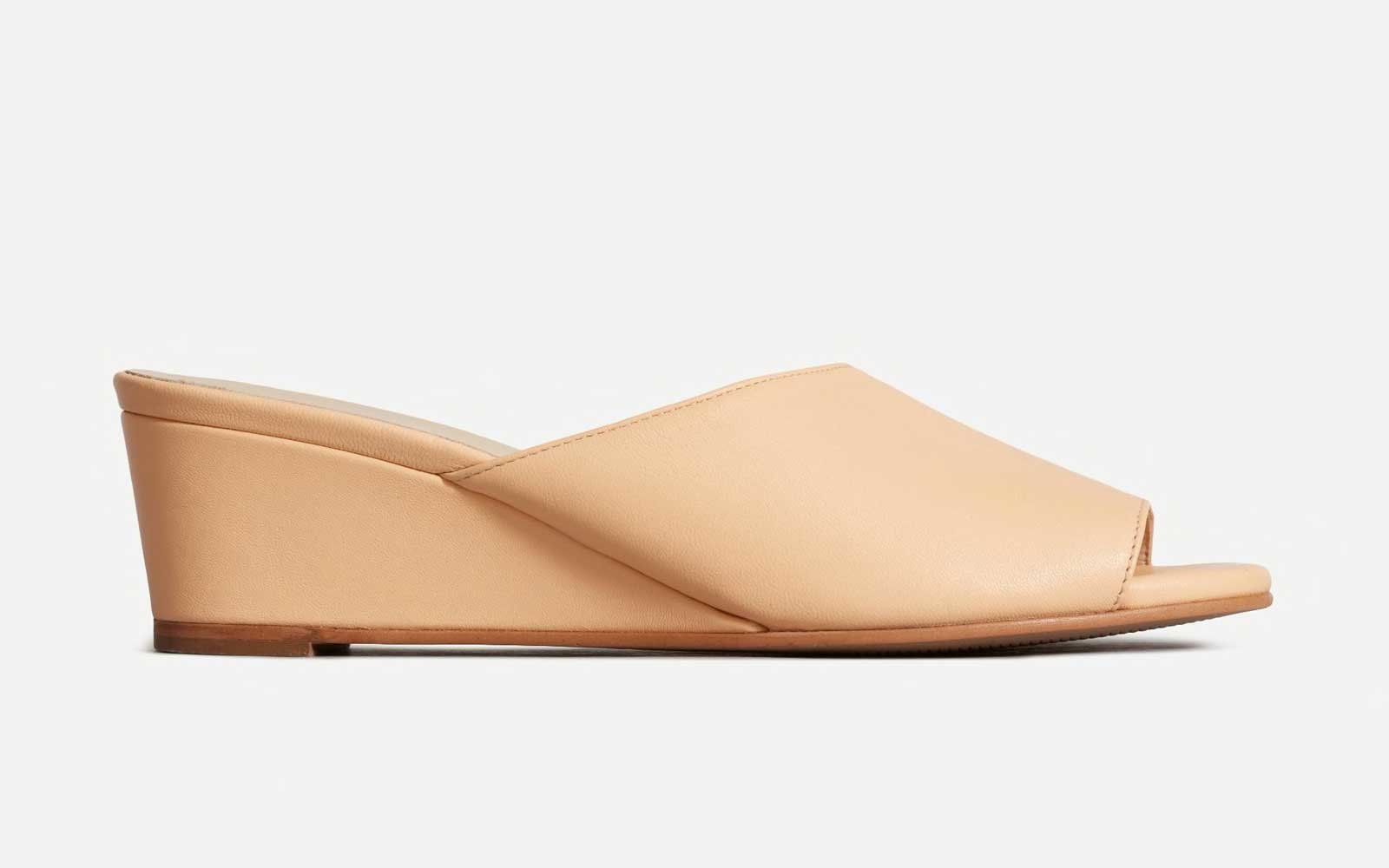 Apricot Open Toe Wedge