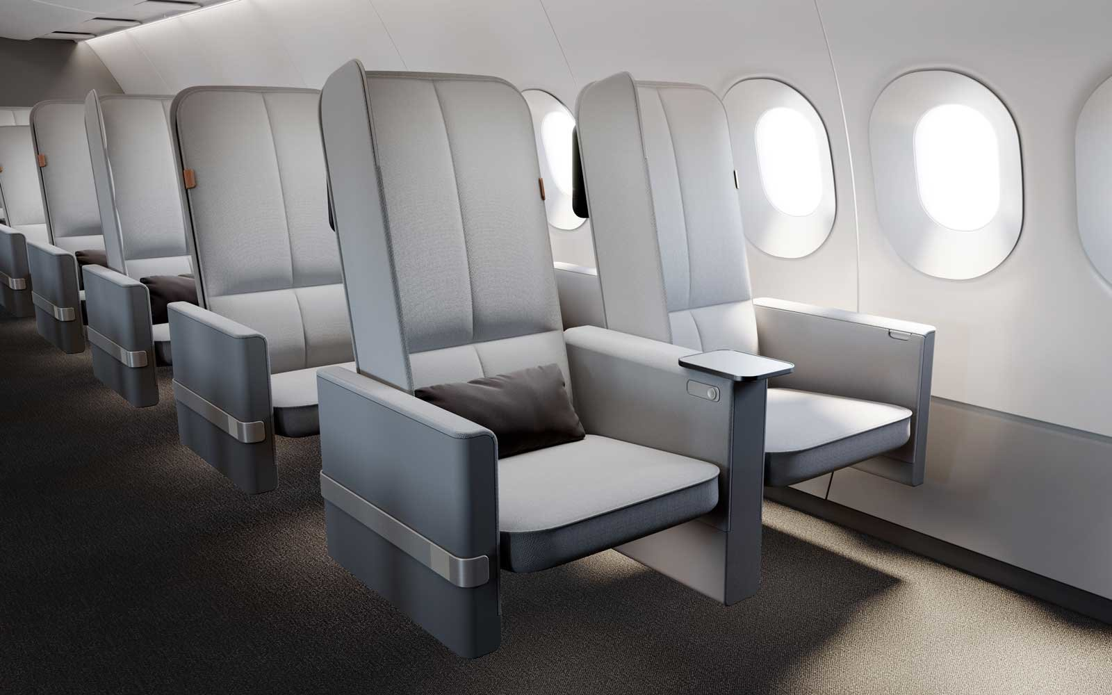 Airplane Seat Design by New Territory, Sleep Easier in Economy