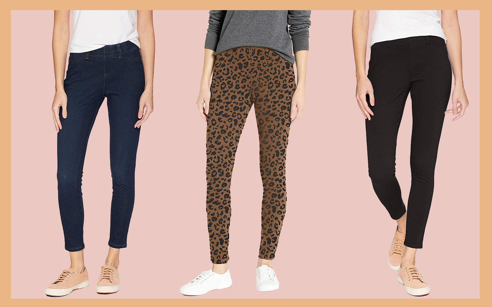 Amazon Essentials Skinny Stretch Pull-On Knit Jegging Collage Tout