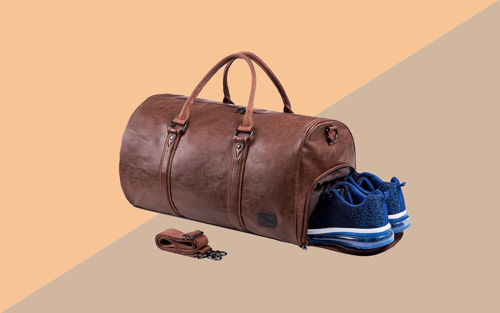 Amazon Leather Travel Bag with Shoe Pouch Tout