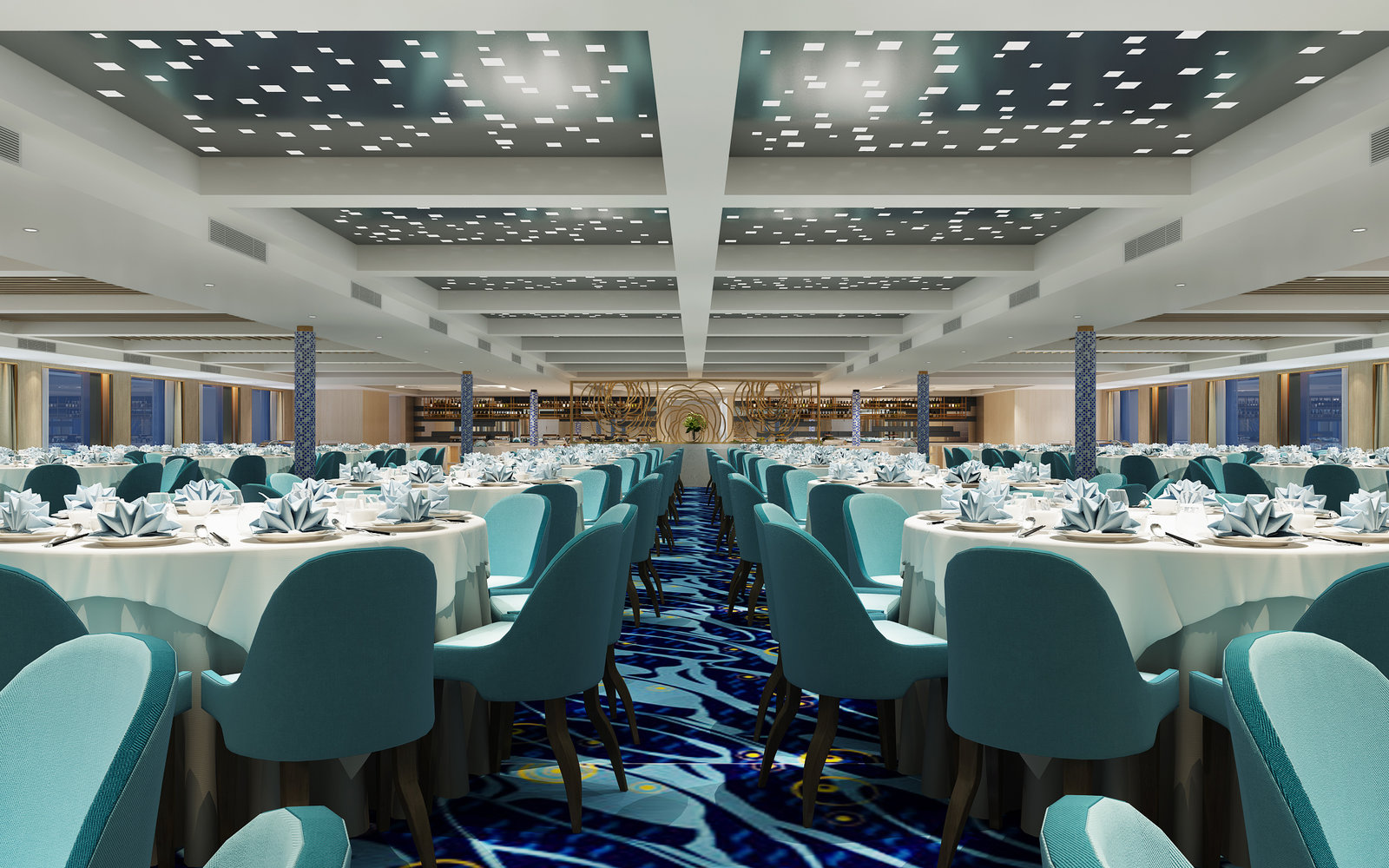 Rendering of the Victoria Sabrina dining room