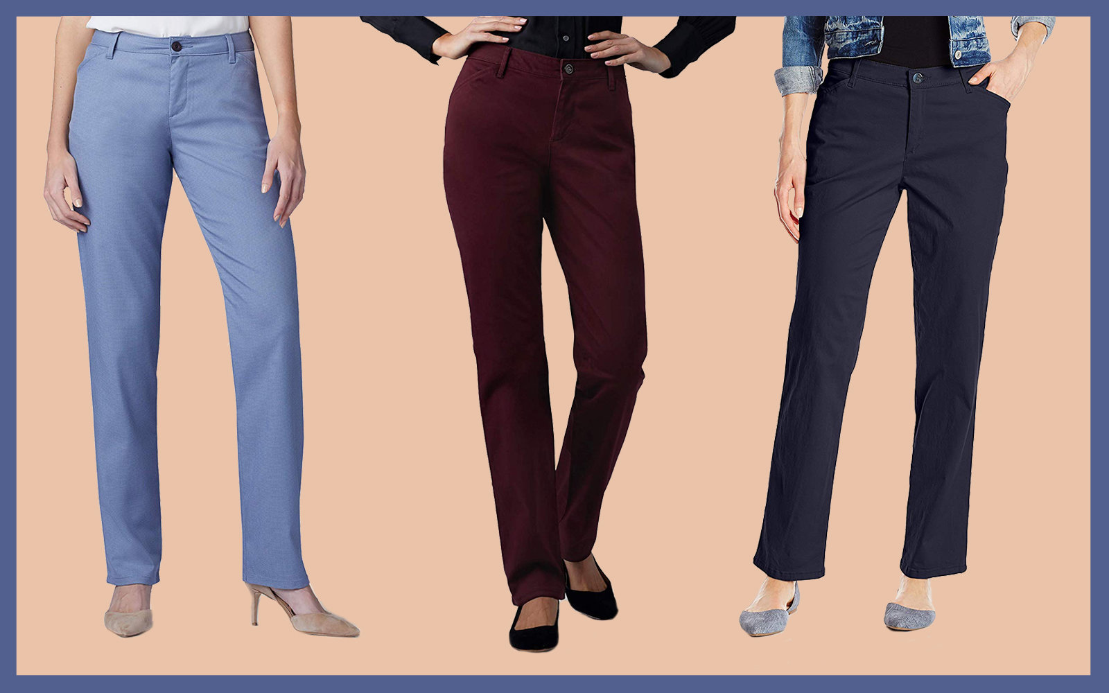 LEE Women's Relaxed Fit All Day Straight Leg Pant Collage Tout