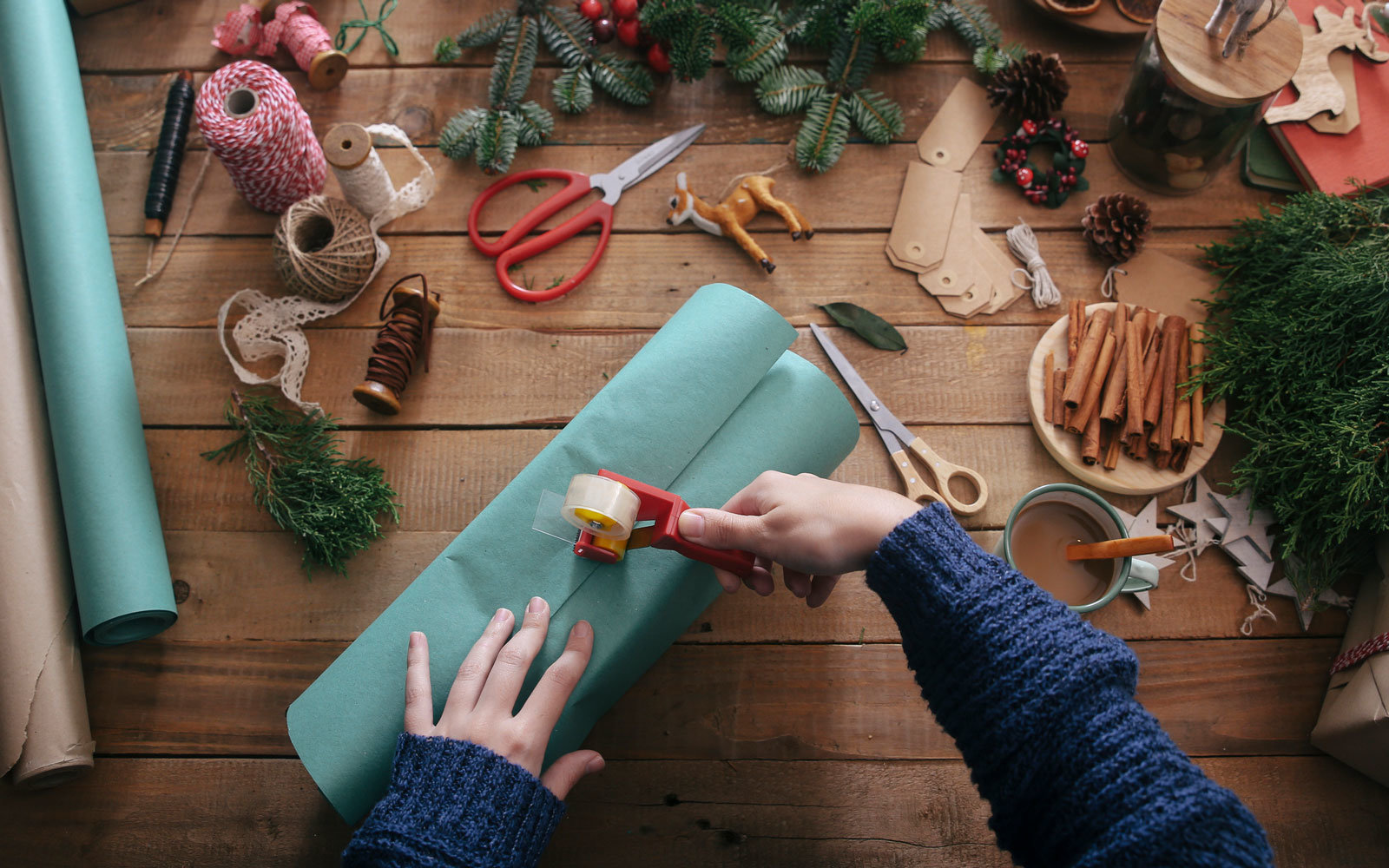 Gift wrapping for the holidays