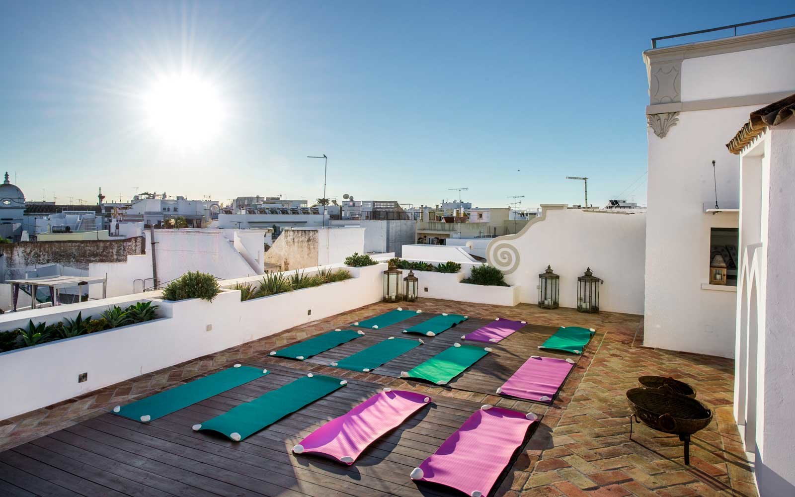 Yoga space at Casa Fuzetta, in Portugal