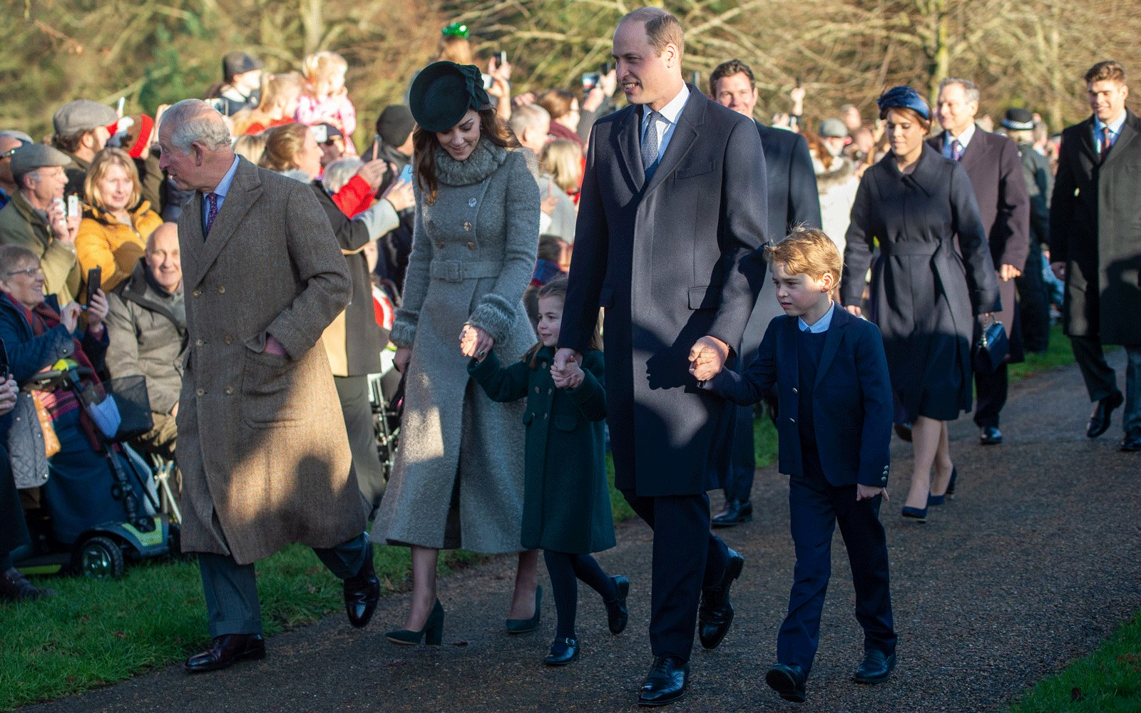 Prince Charles, Kate Middleton, Prince William, Prince George, Princess Charlotte