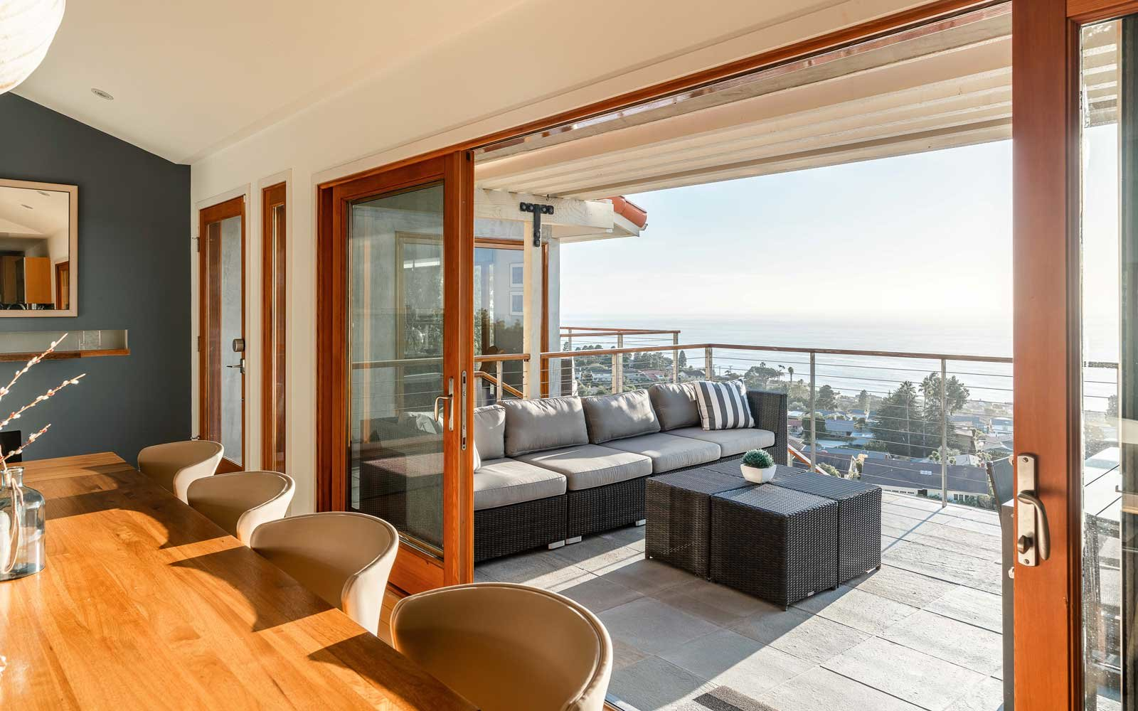 California coast vacation home with view of ocean