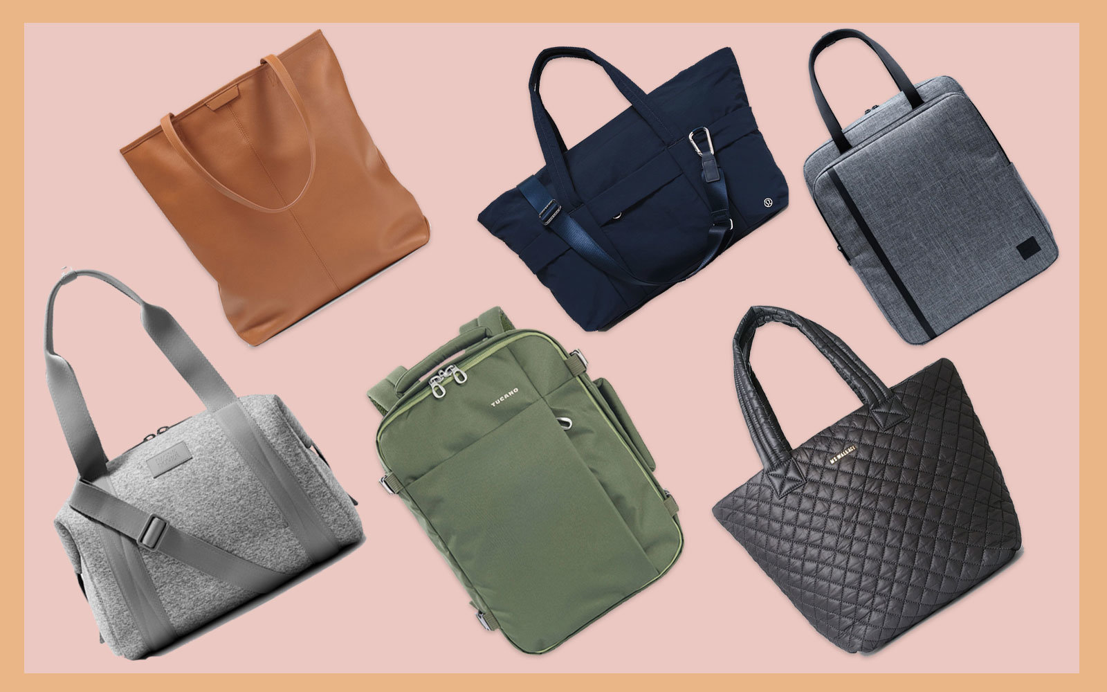 Collection of Tote Bags, Duffels, and Backpacks