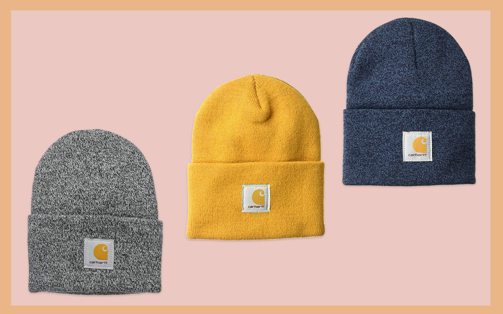 Grey, Yellow and Navy Beanies