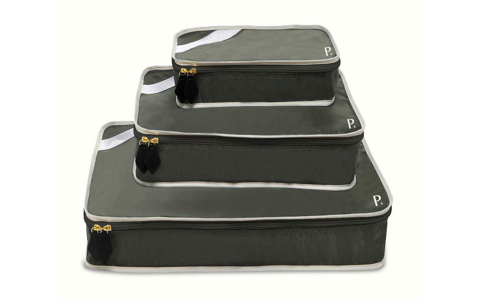 Set of Three Dark Green Packing Cubes