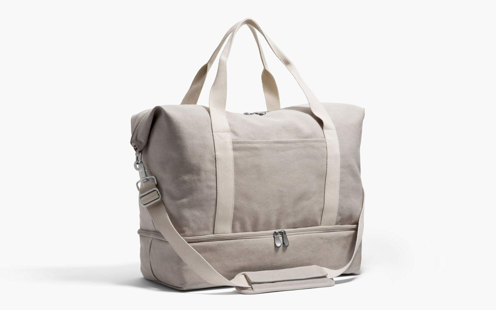 Grey Canvas Weekender Bag