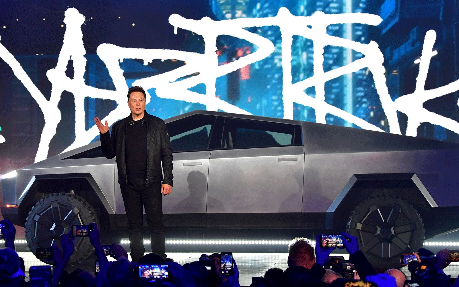 Elon Musk spotted driving Tesla's new Cybertruck in California
