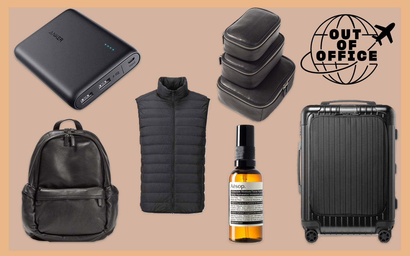 Collection of Travel Accessories