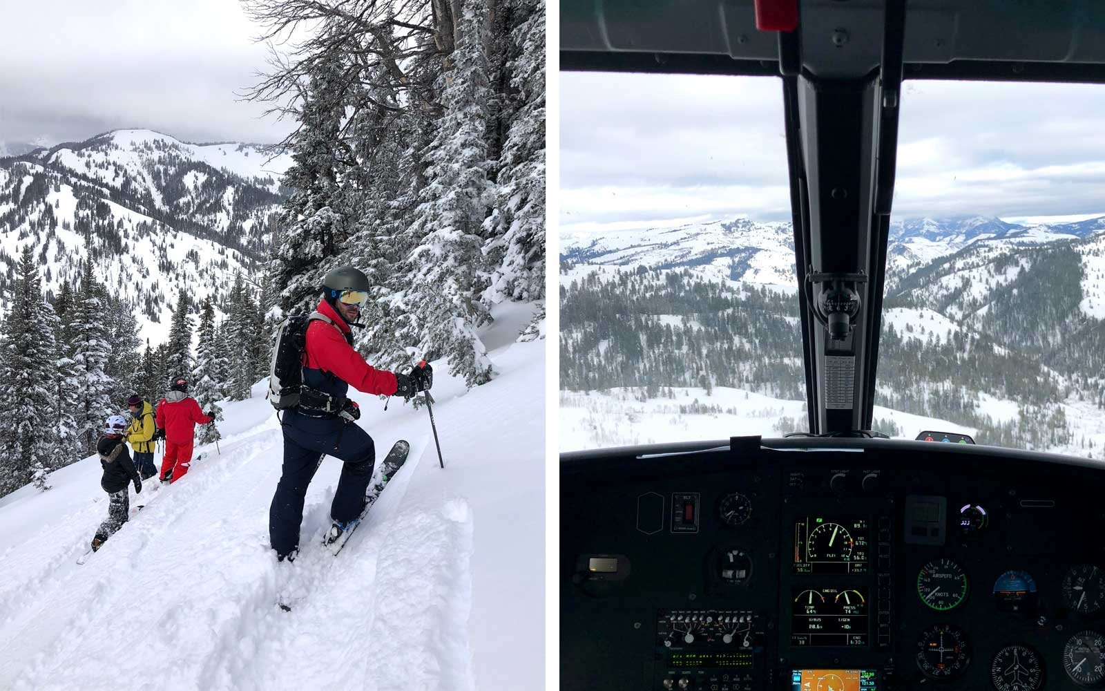 Skiing by helicopter in Jackson Hole Wyoming