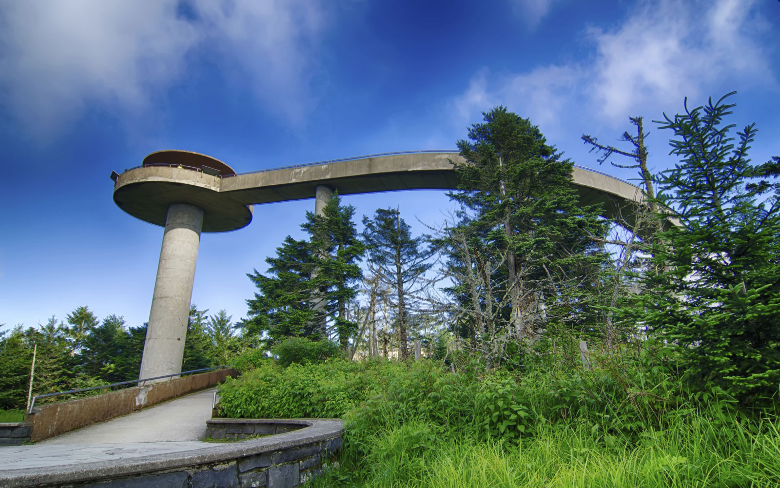 Clingmans Dome tower in Great Smoky Mountains National Park, TN