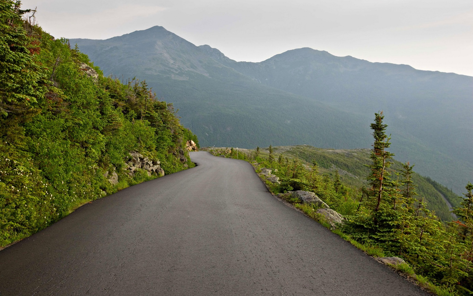 moutain road on Mount Washington Auto Road, New Hampshire