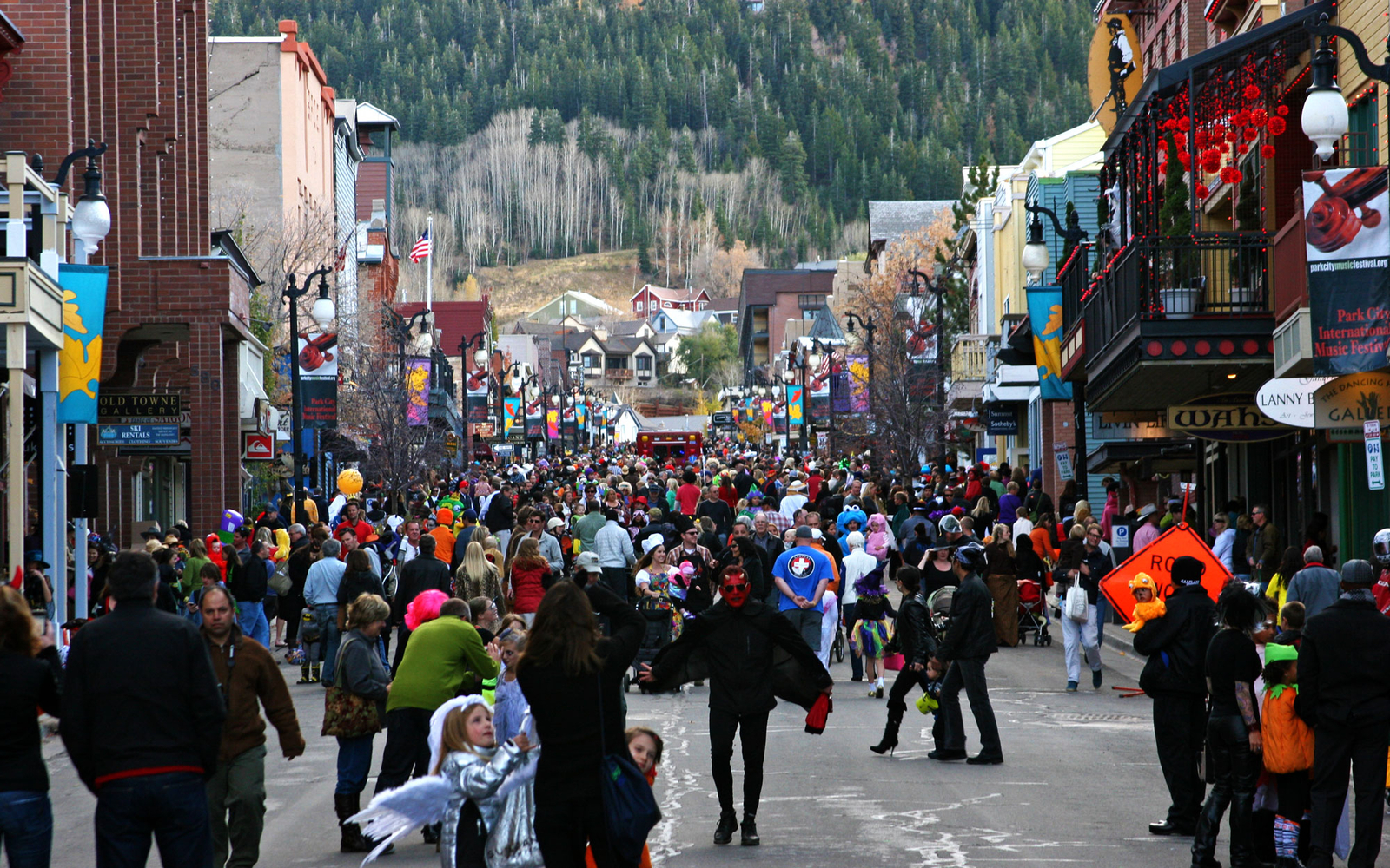 holloween parade in Park City, Utah