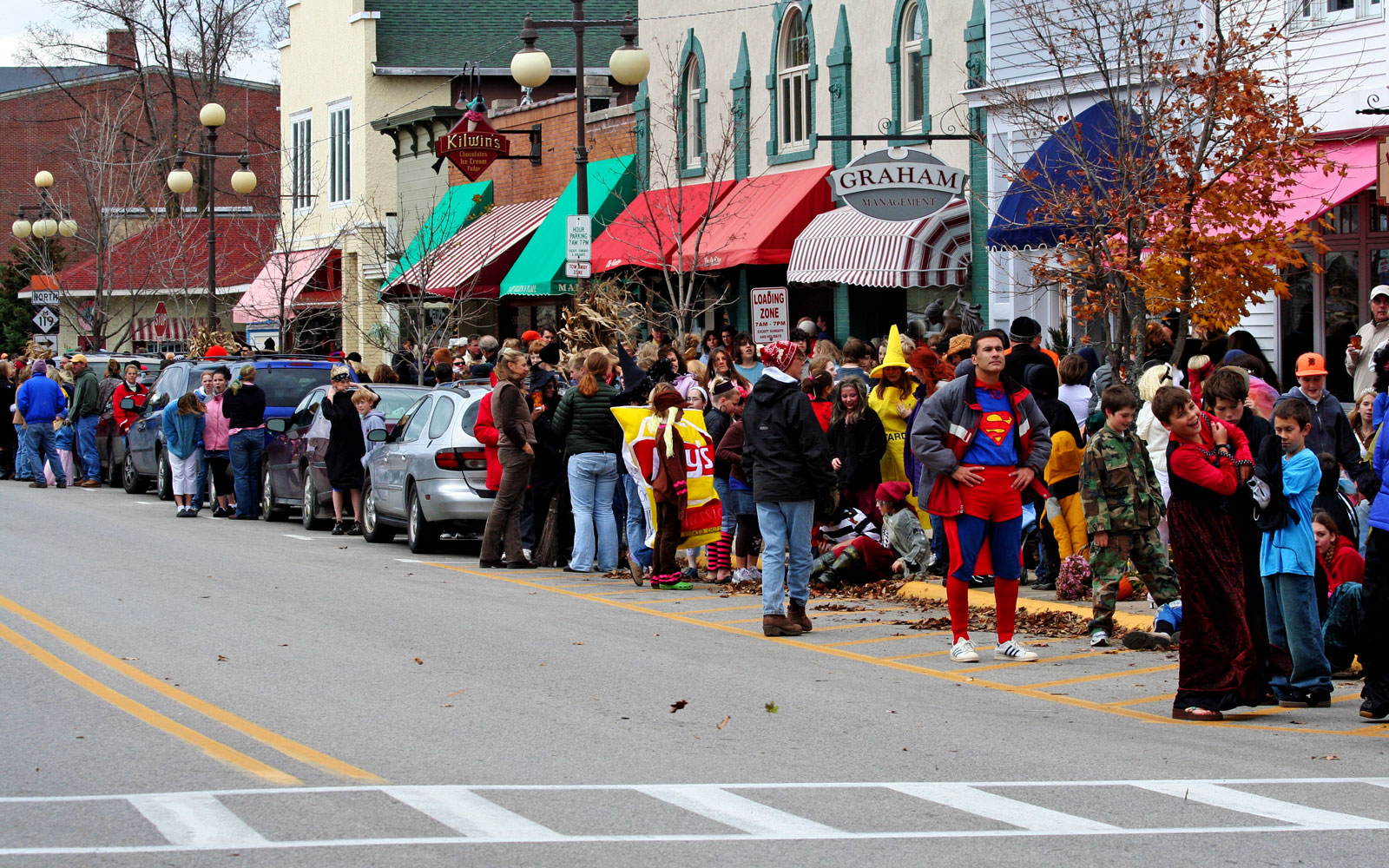 halloween parade in Harbor Springs, Michigan