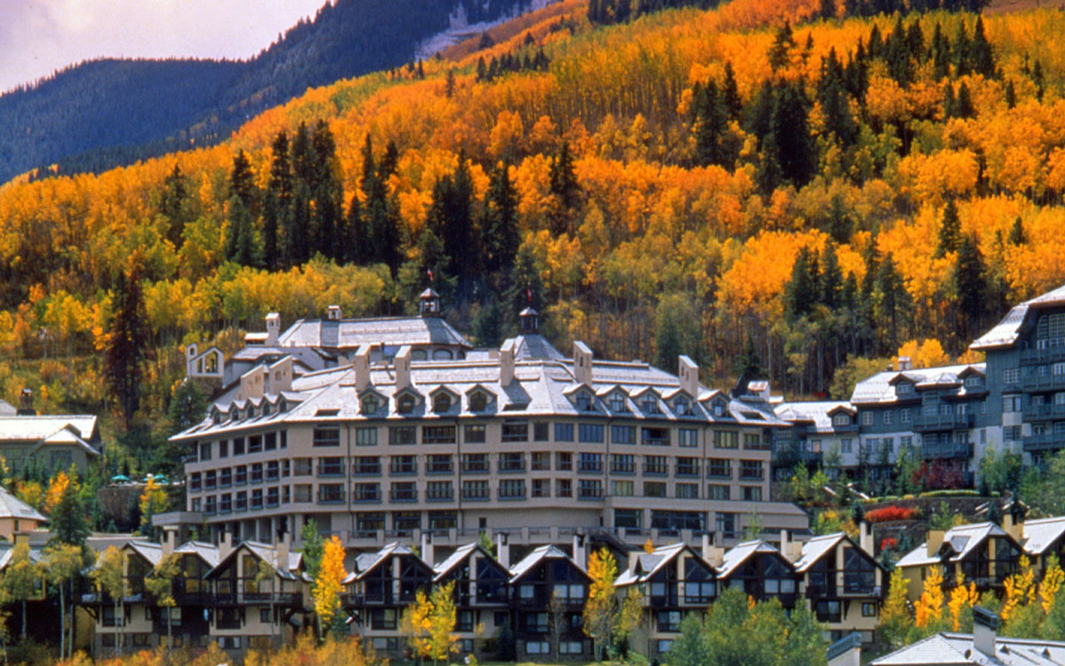 Beaver Creek resort during autumn in Colorado