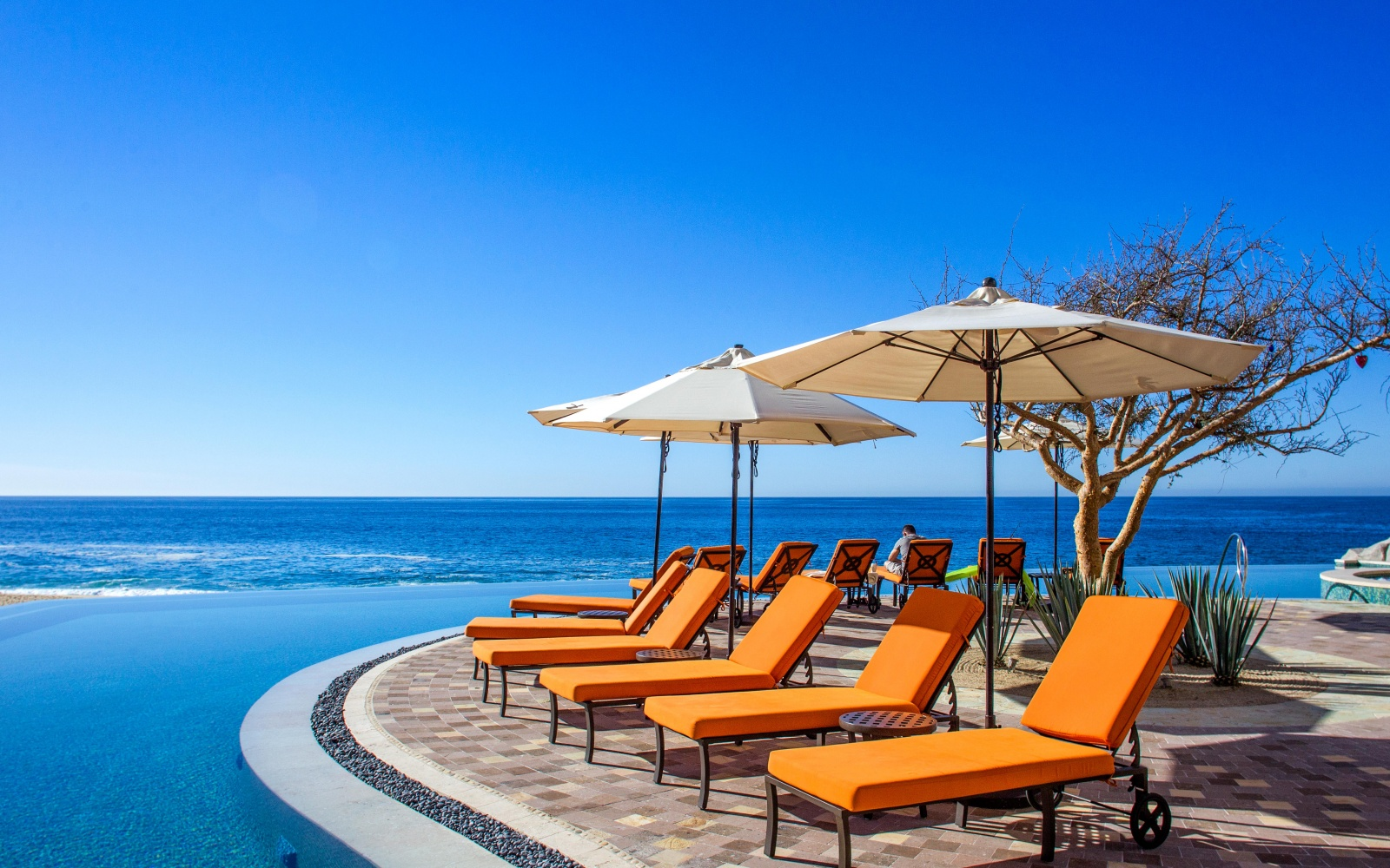 poolside at Grand Solmar Land's End Resort & Spa in Cabo San Lucas, MX