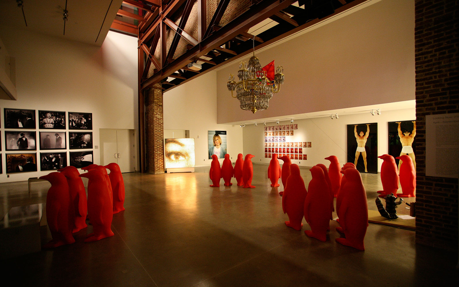 art gallery at 21c Museum Hotel in Louisville, KY