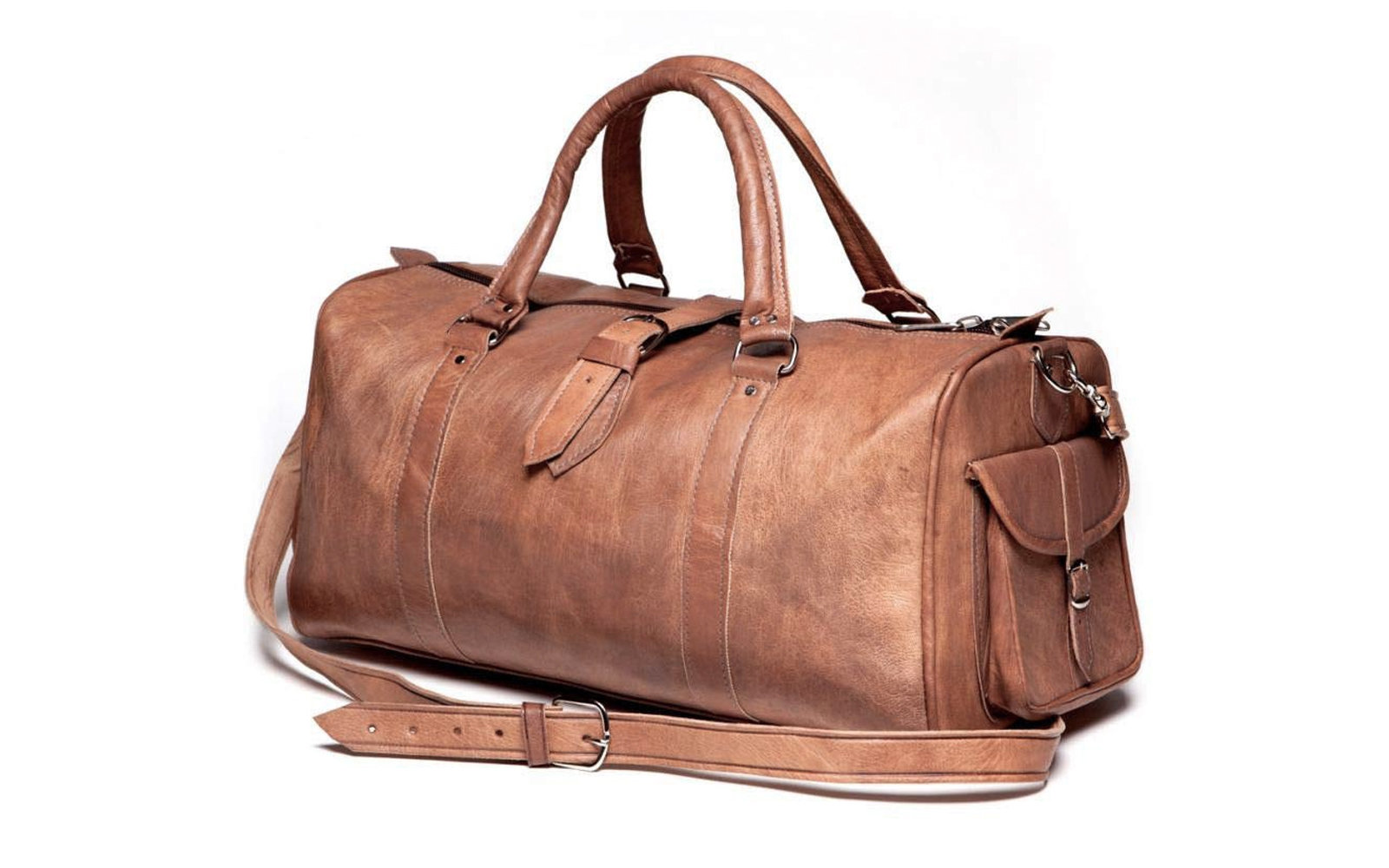 Large Olive Canvas and Hudson Duffel Bag