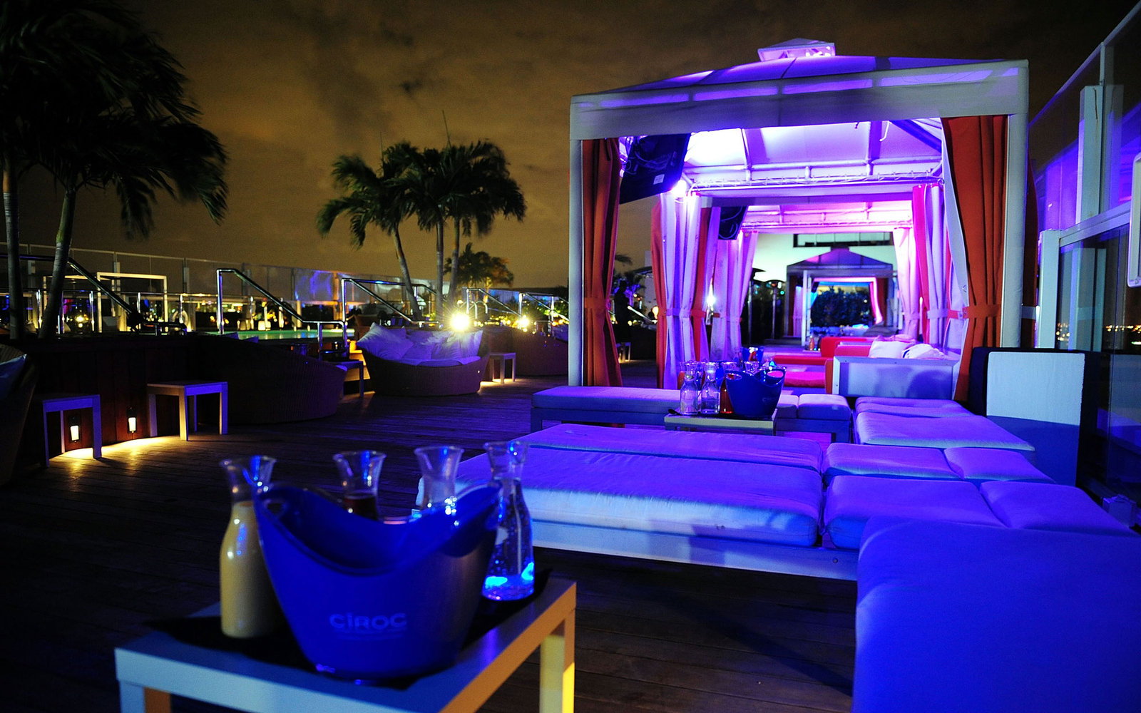 root top cabanas in Miami, FL