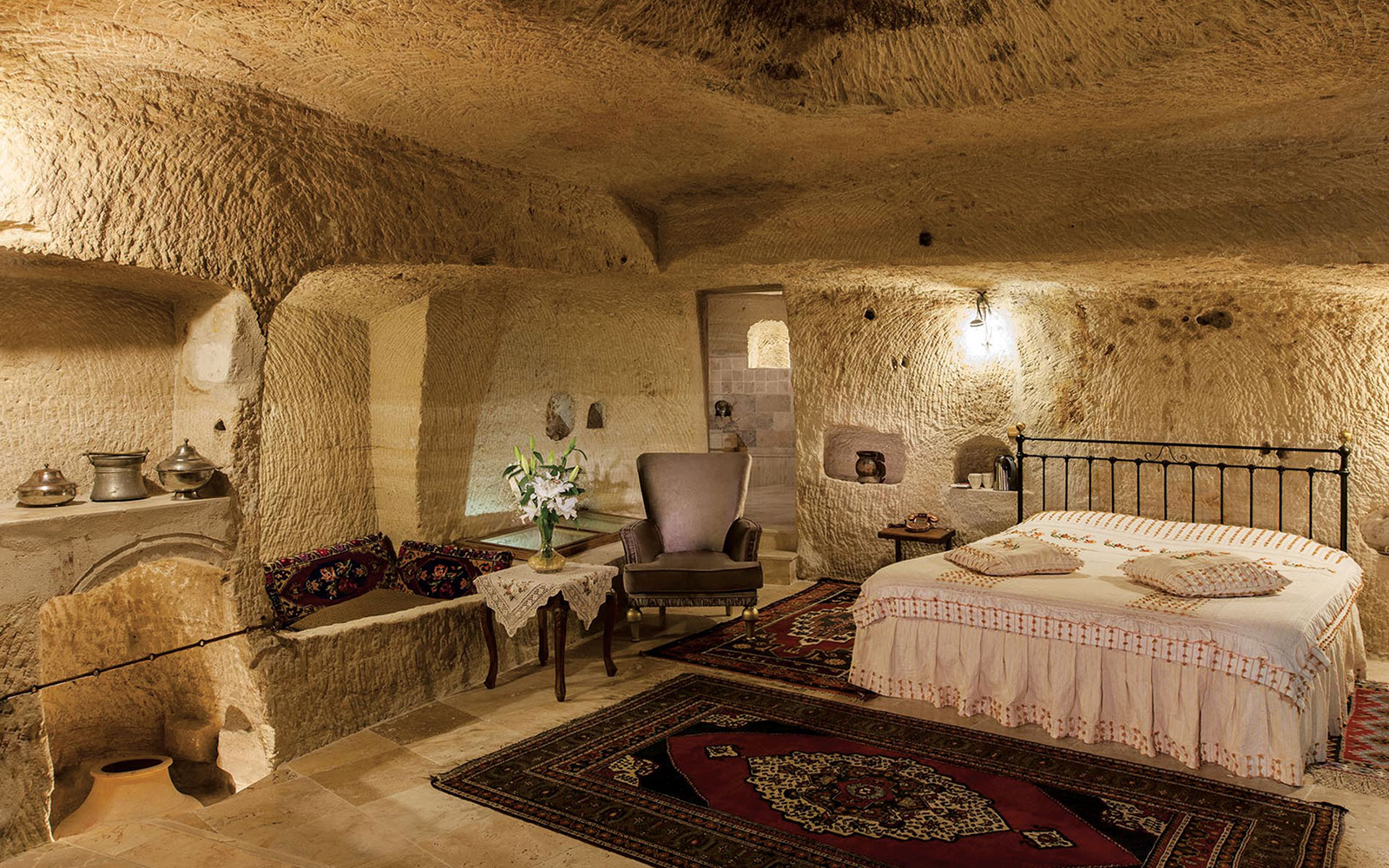 cave room in Aydinli Cave House Hotel at Göreme, Turkey