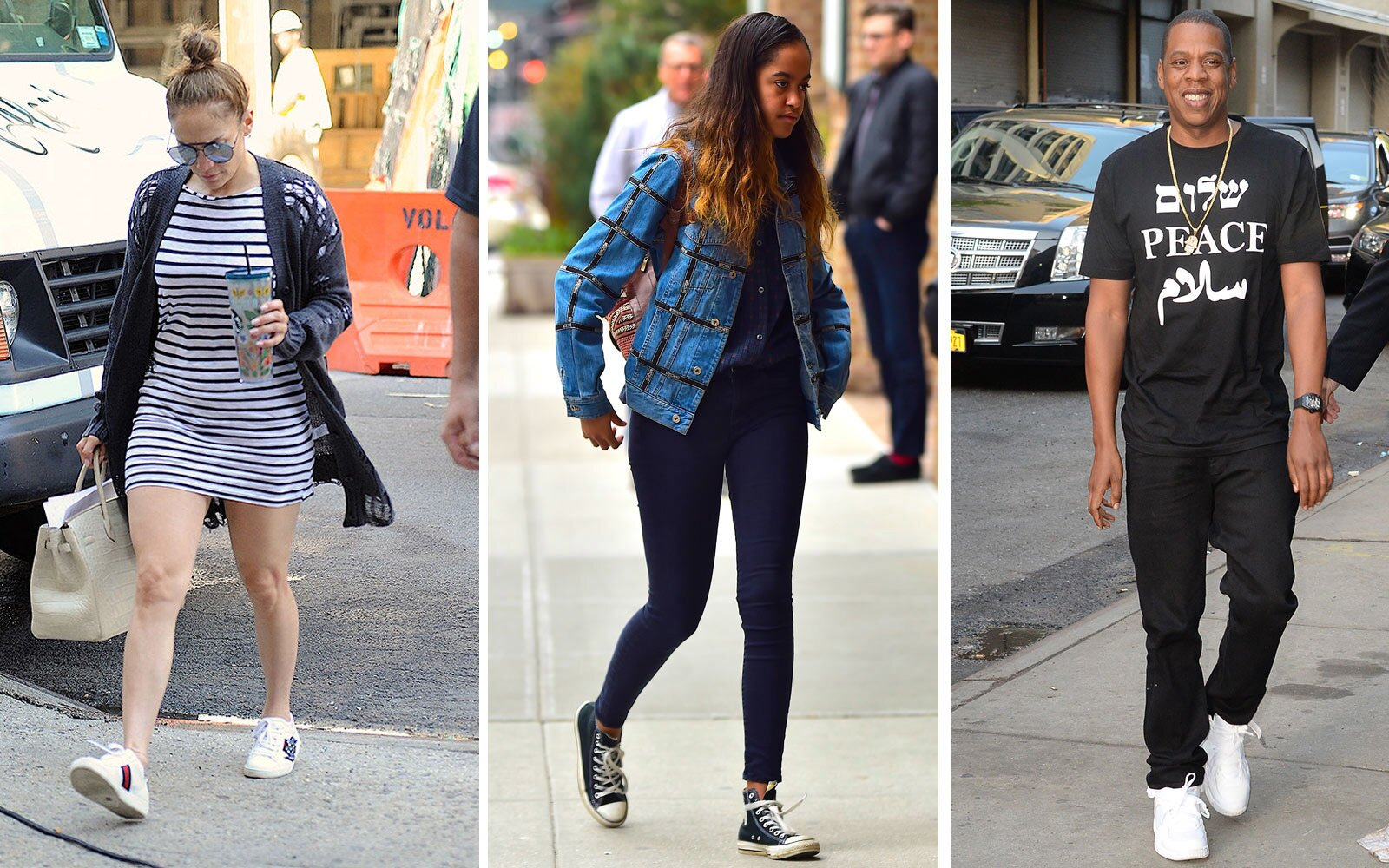 07de76696d3 14 Pairs of Sneakers Celebrities Love to Wear on the Go