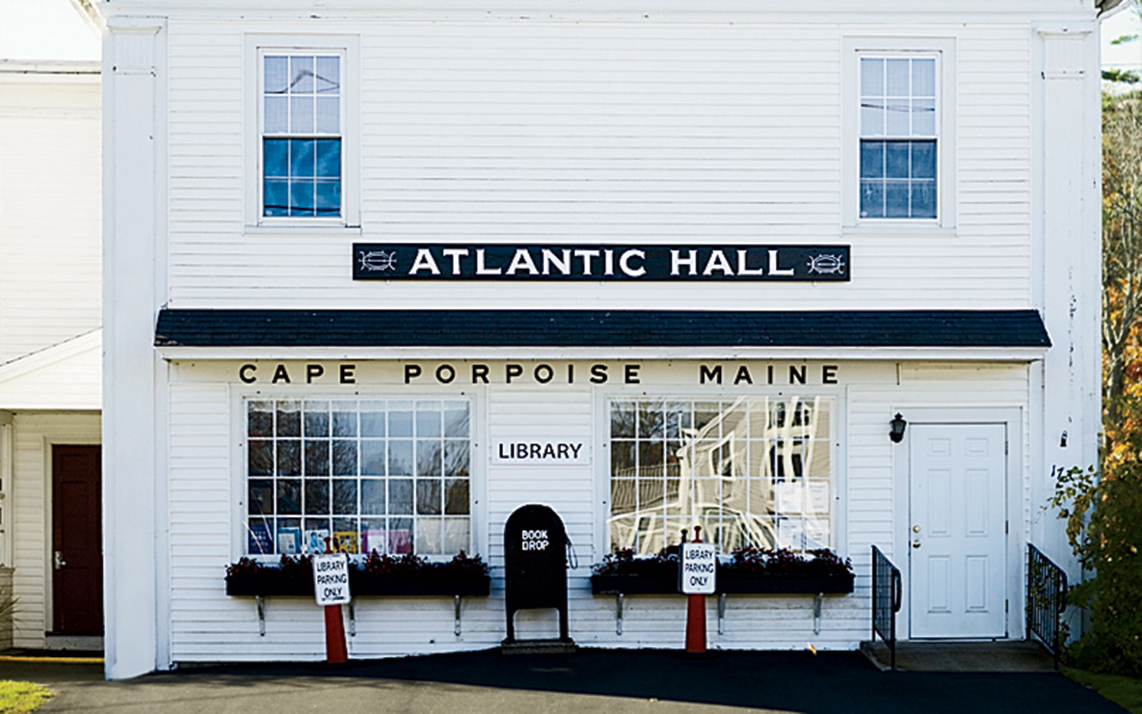Old town library along the coast of Maine