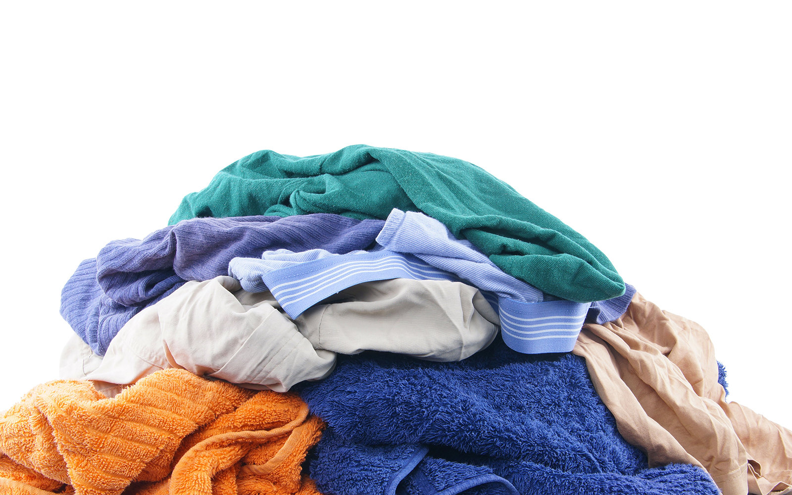Dirty pile of laundry