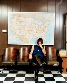 Dandy Warhols front man, Courtney Taylor-Taylor, in the lobby of the Odditorium, his music space north of the Pearl.