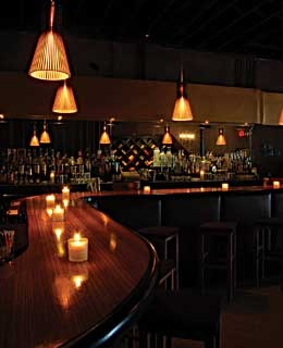 The bar at Circa 28, in Miami's art-centric Wynwood district.