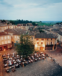 St.-Emilion at dusk.