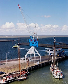 Harlingen Harbour Crane, Netherlands