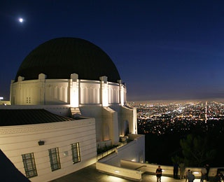 stargazing at Griffith Observatory in Los Angeles, CA