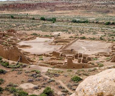 Ancient ruins near Gallo Campground in New Mexico