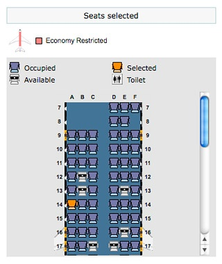 Confirm your seat assignment.