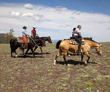horseback riding in Rocking Z Guest Ranch, Wolf River, MT