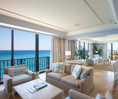 guest room overlooking the ocean at The Breakers in Palm Beach, FL