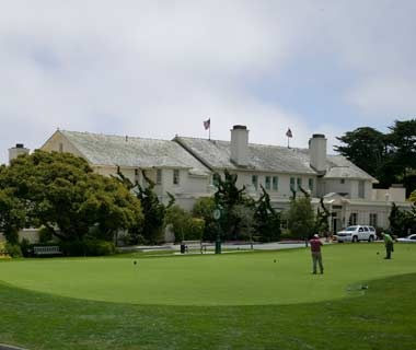 putting green in front of the Lodge at Pebble Beach, CA