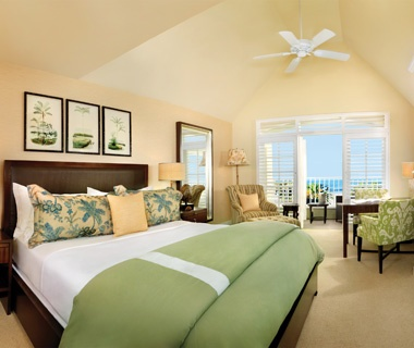 guest room at the L'Auberge Del Mar beachfront hotel, CA