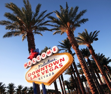 welcome sign in Las Vegas, NV