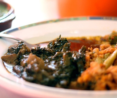Mexico: Romeritos with Mole