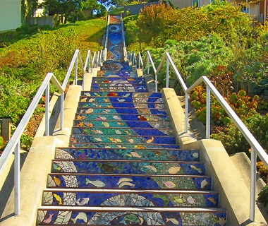 16th Avenue Mosaic Staircase, San Francisco