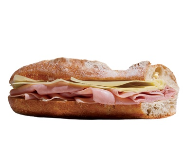 Ham and Cheese Baguette, New York
