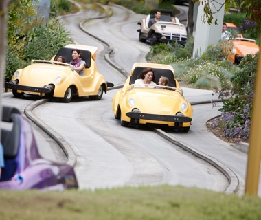 Autopia (Disneyland; in Magic Kingdom as Tomorrowland Speedway)