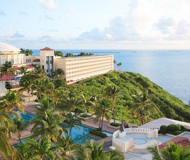 aerial view of El Conquistador Resort & Golden Door Spa, Puerto Rico